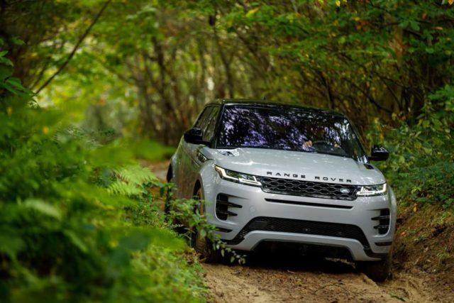 India-Bound 2019 Range Rover Evoque Front