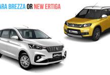 New Maruti Suzuki Ertiga Vs Maruti Suzuki Vitara Brezza - Comparison