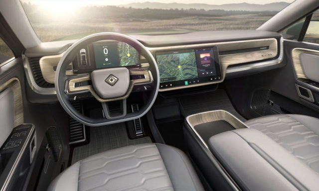 Rivian R1S Electric SUV INTERIOR 1