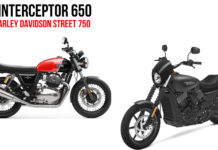 Royal Enfield Interceptor 650 Vs Harley Davidson Street 750