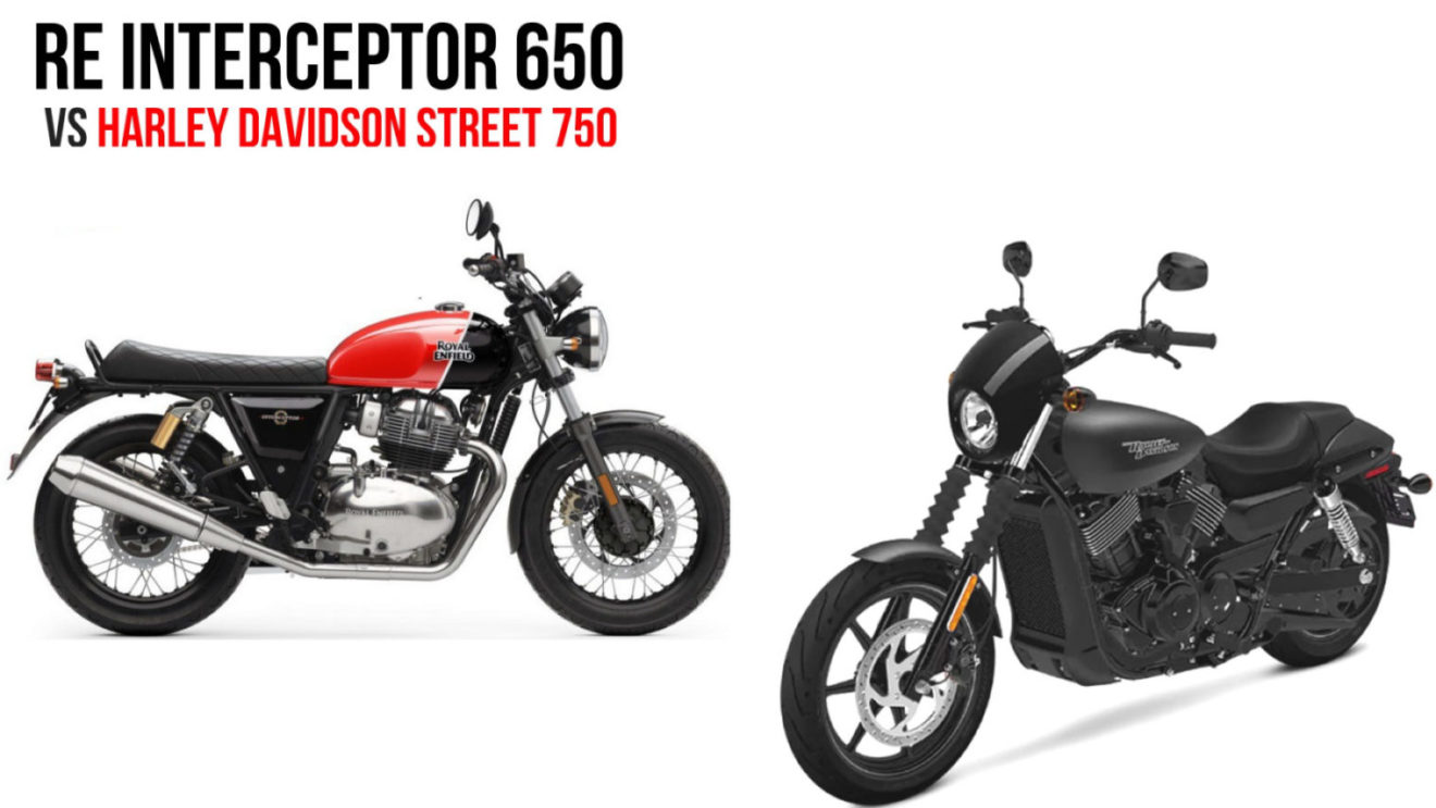 royal enfield interceptor 650 vs harley davidson street 750 comparison. Black Bedroom Furniture Sets. Home Design Ideas