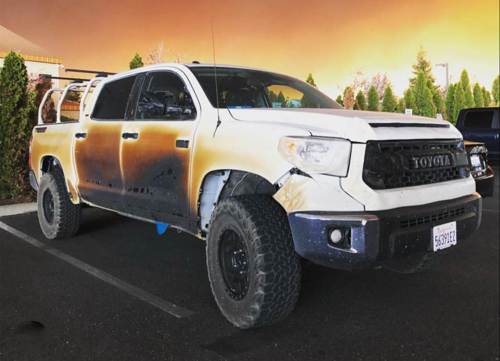 Toyota Gives New Truck To A Man Who Saved Many Lives From Wildfire