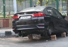 delhi car tyres stolen 2