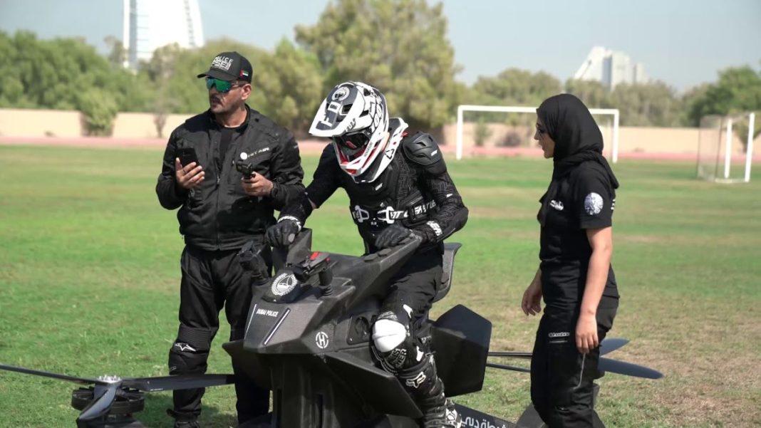 dubai police flying bike