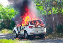 ford endeavour fire-1