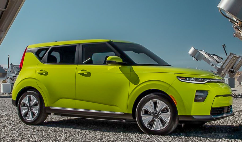 This is the new Kia Soul EV