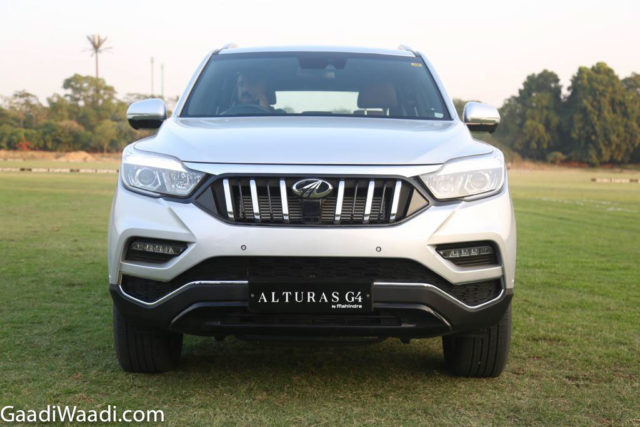 mahindra alturas g4 front end