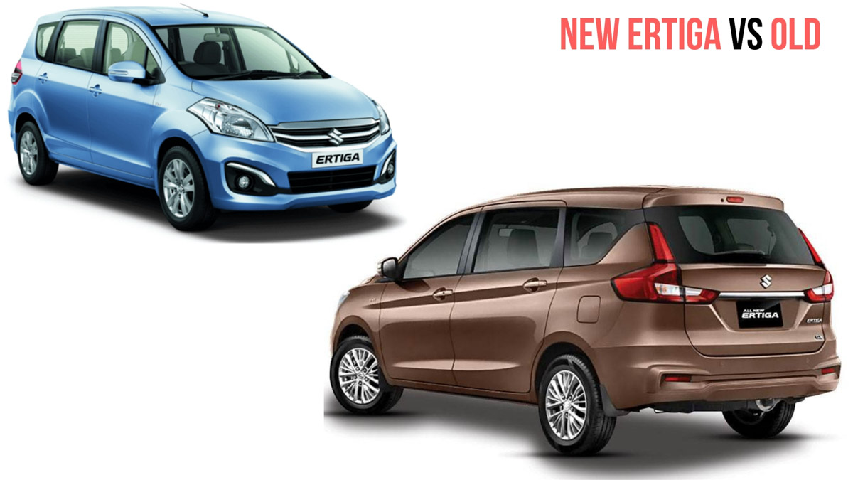 New Maruti Suzuki Ertiga Vs Old Ertiga Prices And Variants Comparison