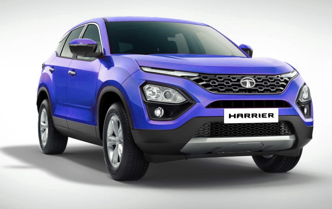 tata harrier blue