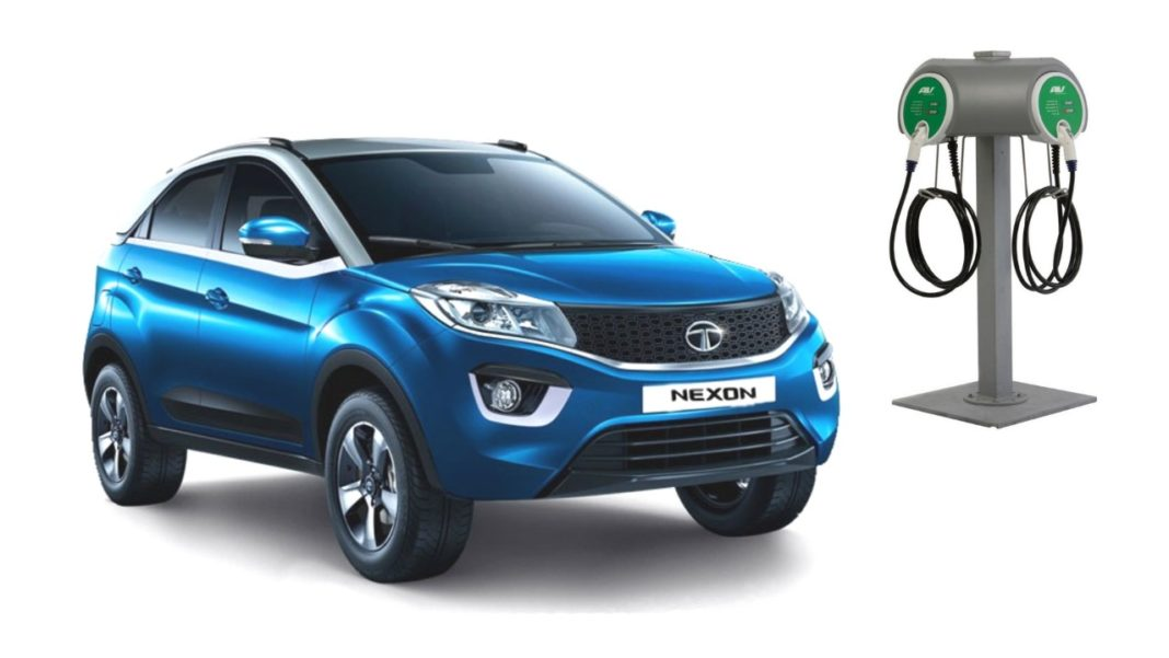 tata nexon electric version image blue silver-dual tone colour