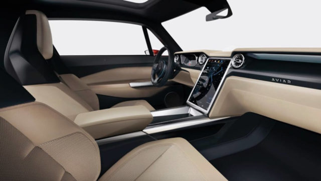 Electric Ford Mustang (Aviar R67) INTERIOR