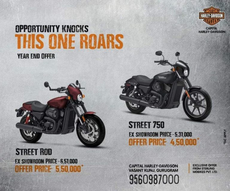 Harley-Davidson-Street-750-and-Street-Rod-750-discount-offers