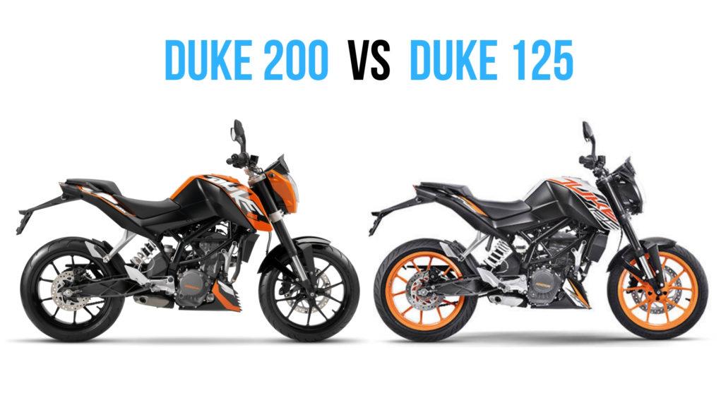 KTM Duke 125 vs KTM Duke 200 Comparison