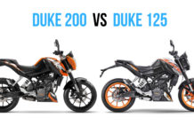 KTM Duke 125 vs KTM Duke 200 Comparison