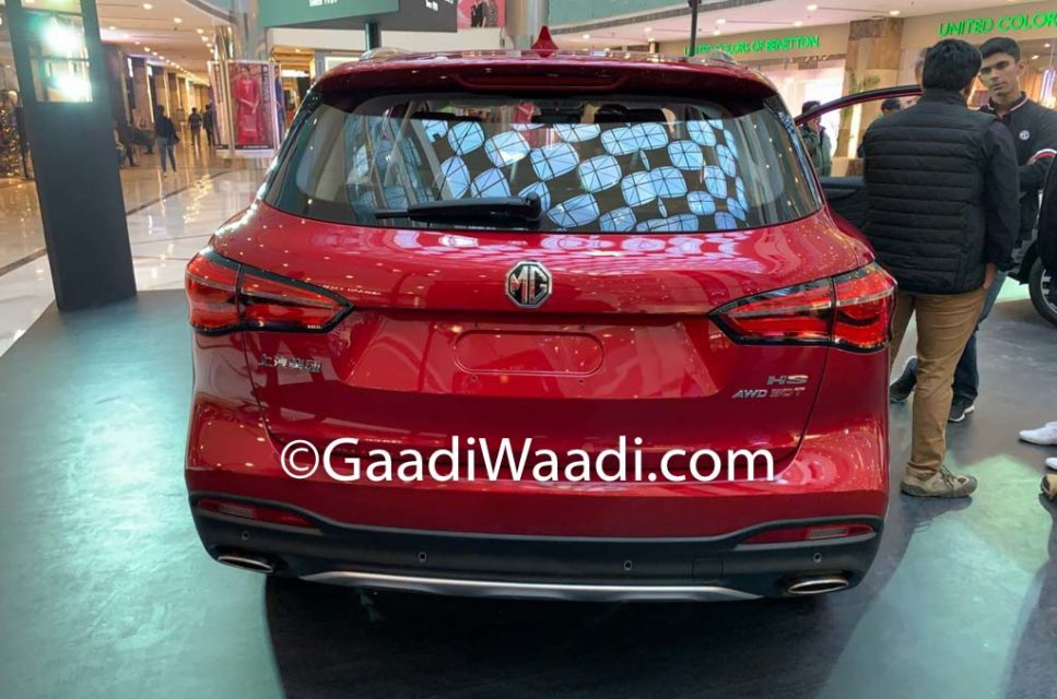 MG HS SUV India Rear End