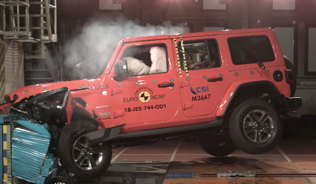 New Jeep Wrangler Scores 1 Star In Euro NCAP Crash Tests