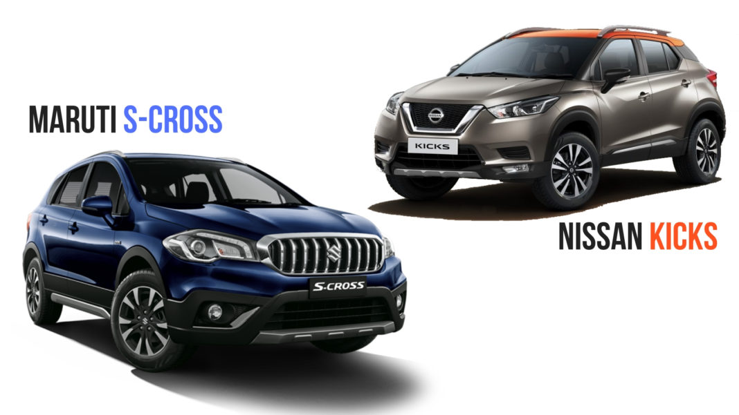 Nissan Kicks VS Maruti Suzuki S-Cross - Feature & Specs Comparison