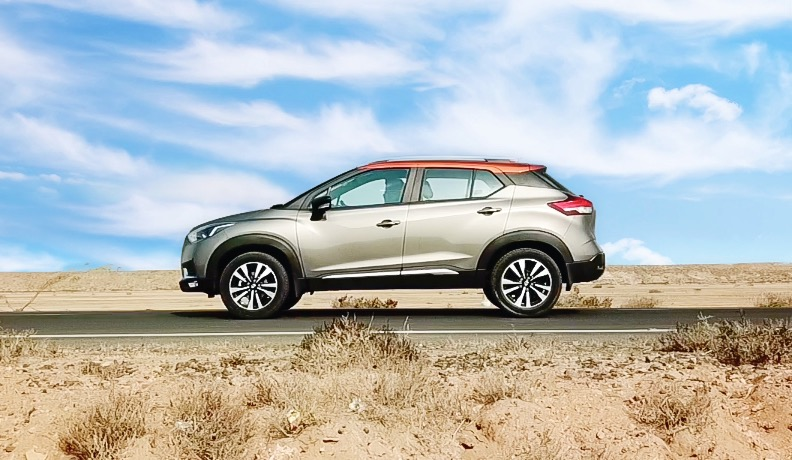 Nissan Kicks side ground clearance