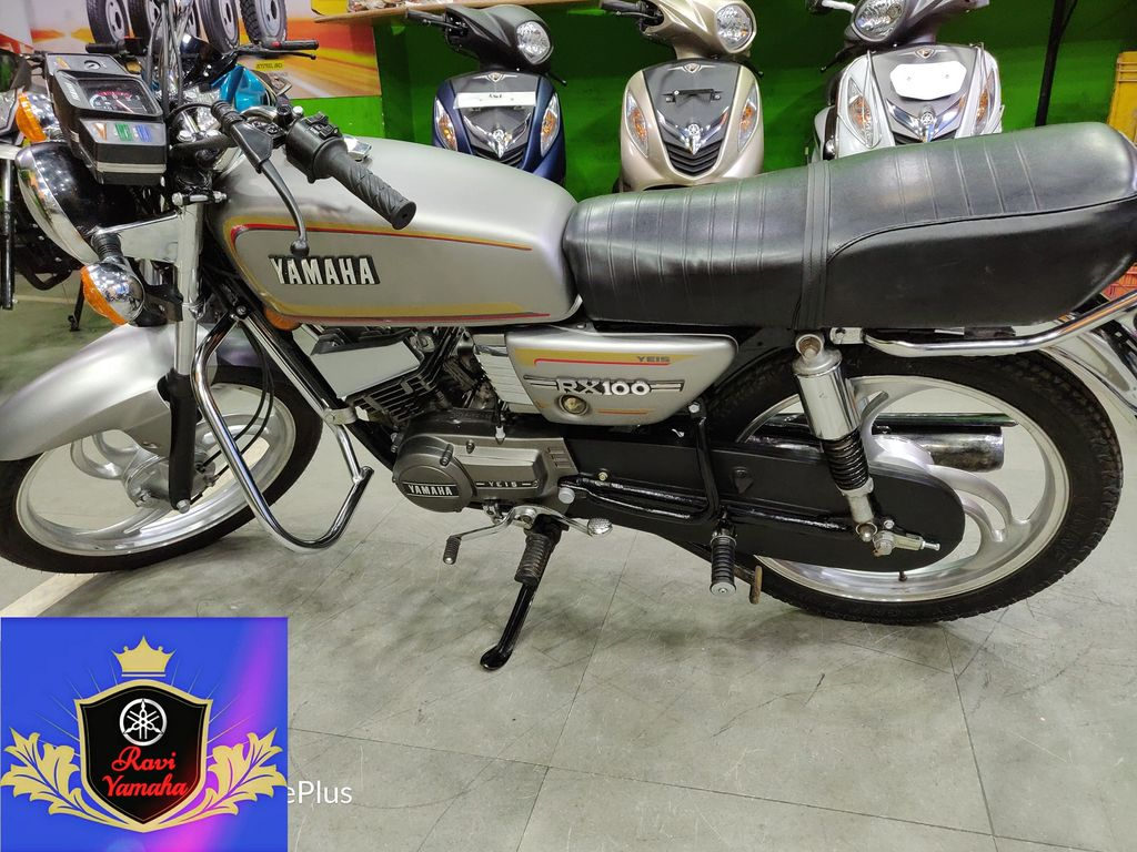 yamaha rx 100 restored to showroom conditiona dealership