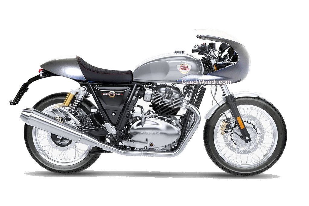 Royal Enfield Interceptor Rendering With Custom Cafe Racer Style on Honda Nighthawk 750 Scrambler