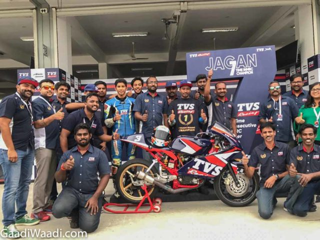 TVS Racing Jagan Kumar INMRC 2018 Champion 2