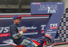 TVS Racing Jagan Kumar INMRC 2018 Champion