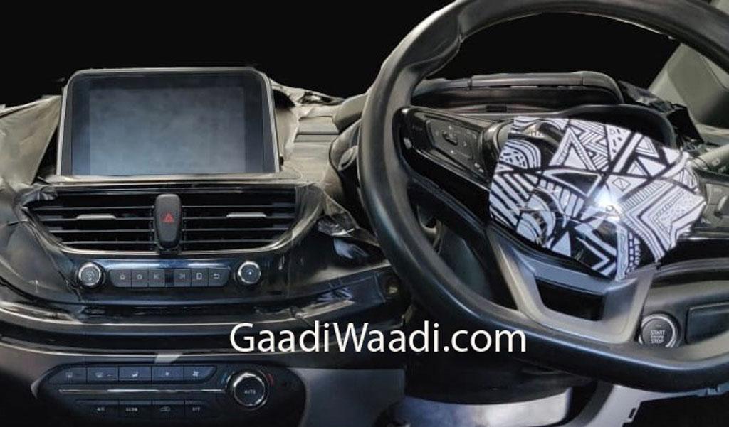 Tata Aquila (45X) Hatchback Instrument Cluster & Interior Spied