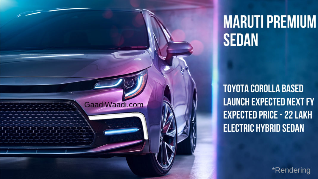 Upcoming Maruti Corolla-based Sedan Will Be An Electric Hybrid