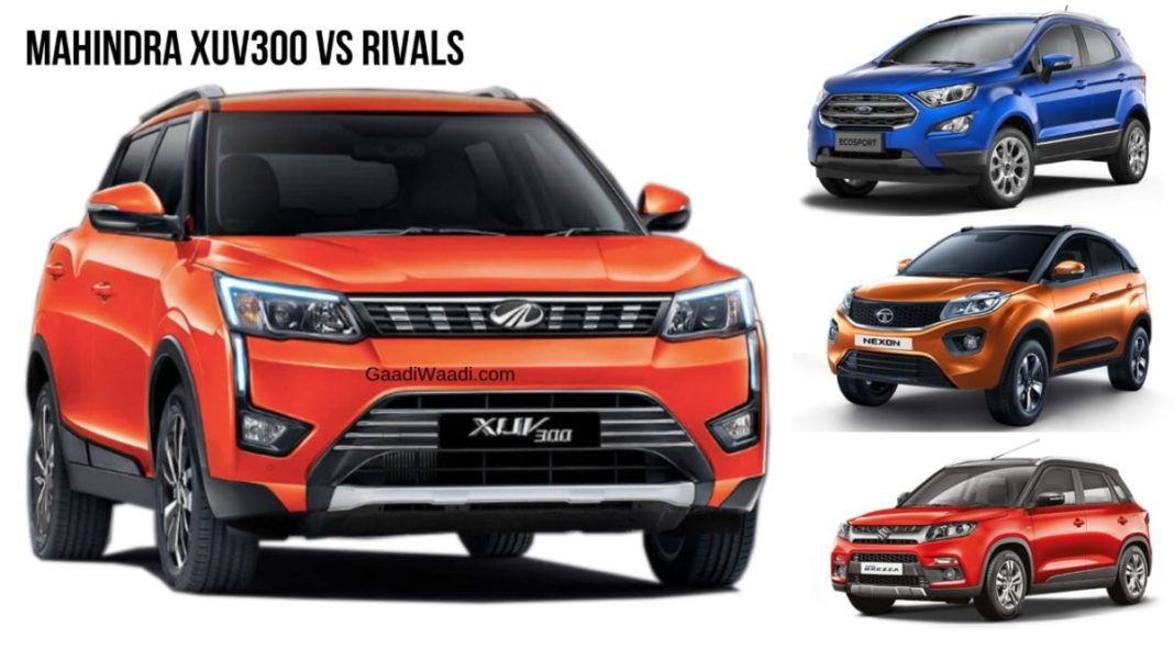 XUV 300 vs nexon vs vitara brezza vs ecosport