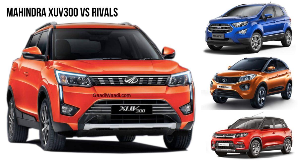 Advantages Xuv 300 Has Over Vitara Brezza Ecosport Nexon Wrv
