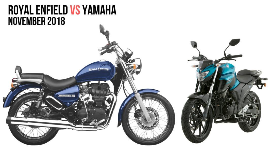 Yamaha Closes The Sales Gap With Royal Enfield In November 2018 - Details