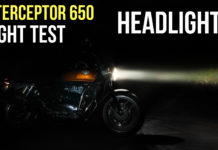 interceptor 650 headlight test