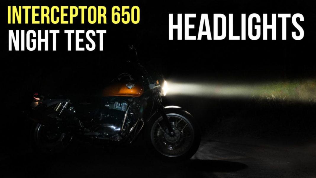 interceptor 650 headlight test