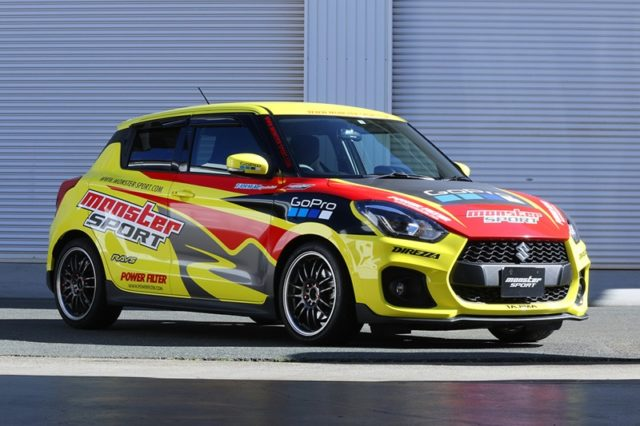 modified suzuki swift sport monster sport image front angle
