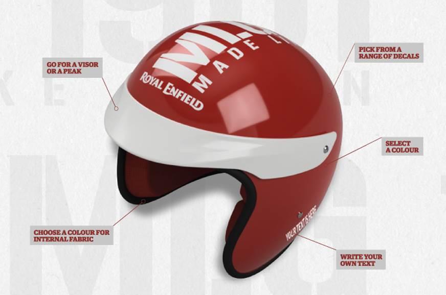 re customised helmet