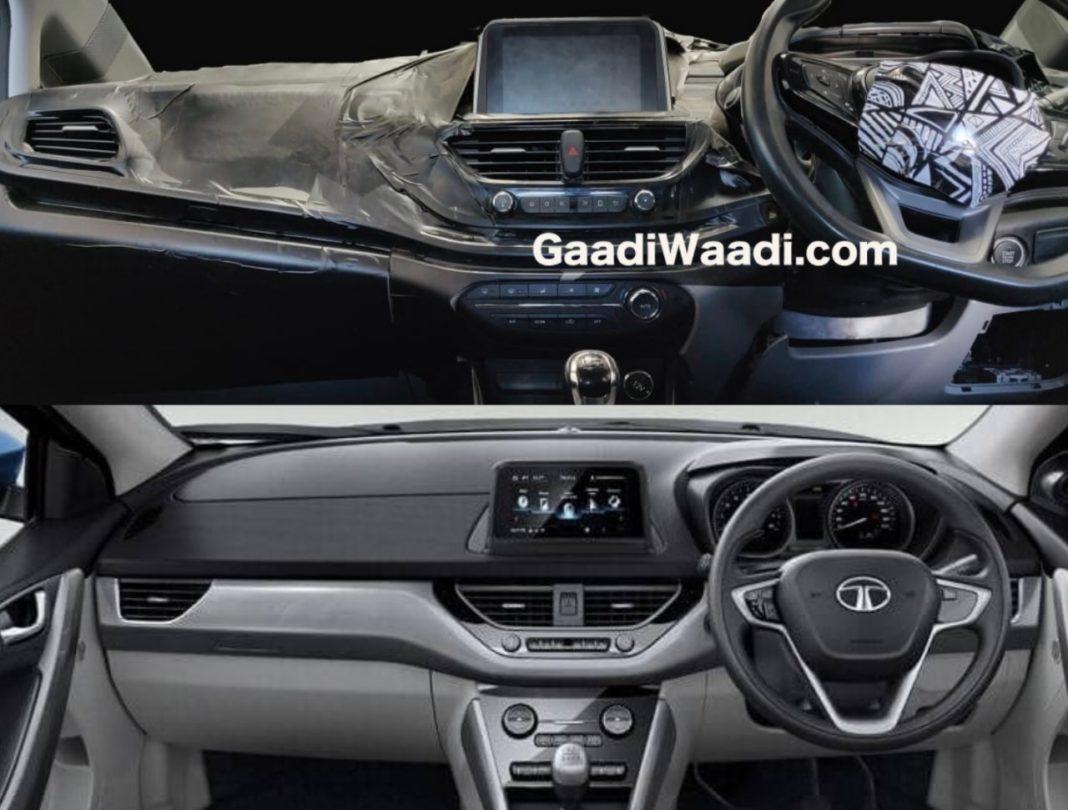 tata 45x interior dashboard nexon image comparison