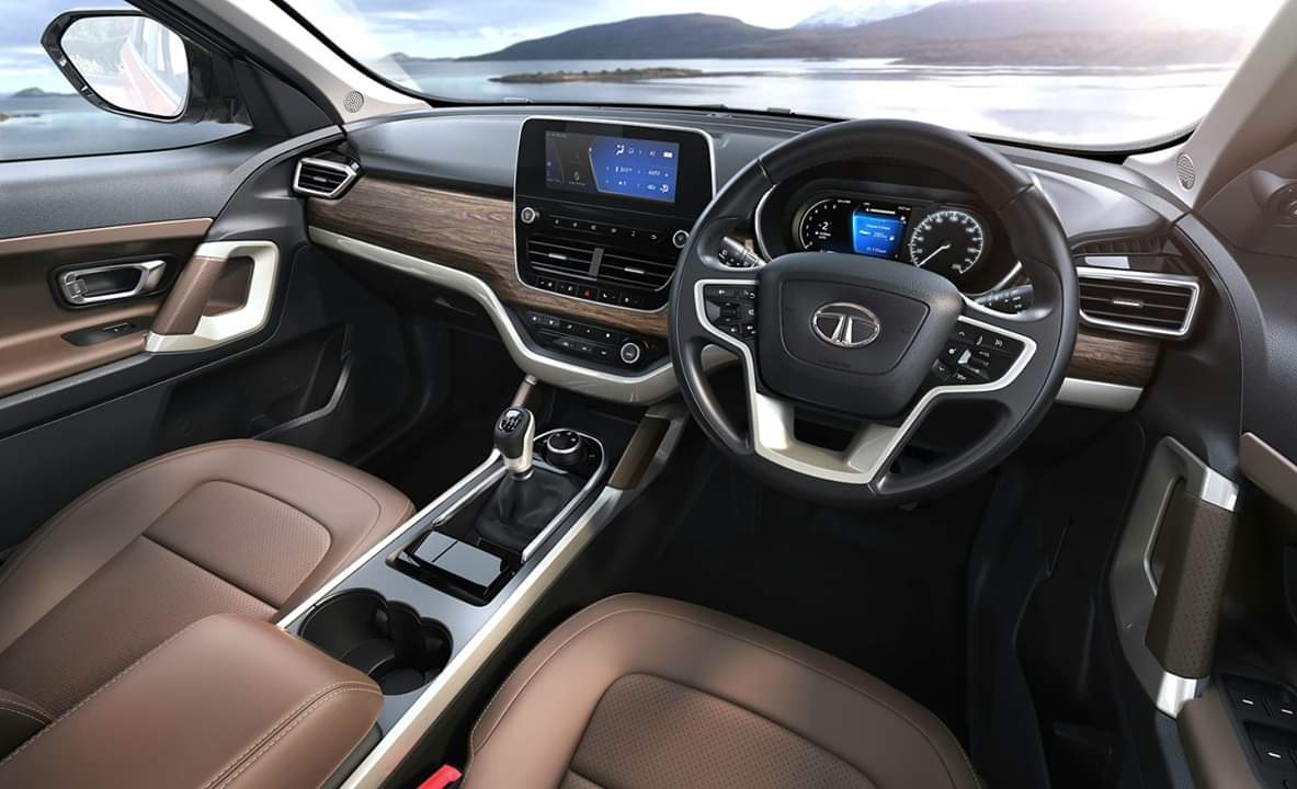 Tata Harrier Interior Revealed Fully In New Official Pics