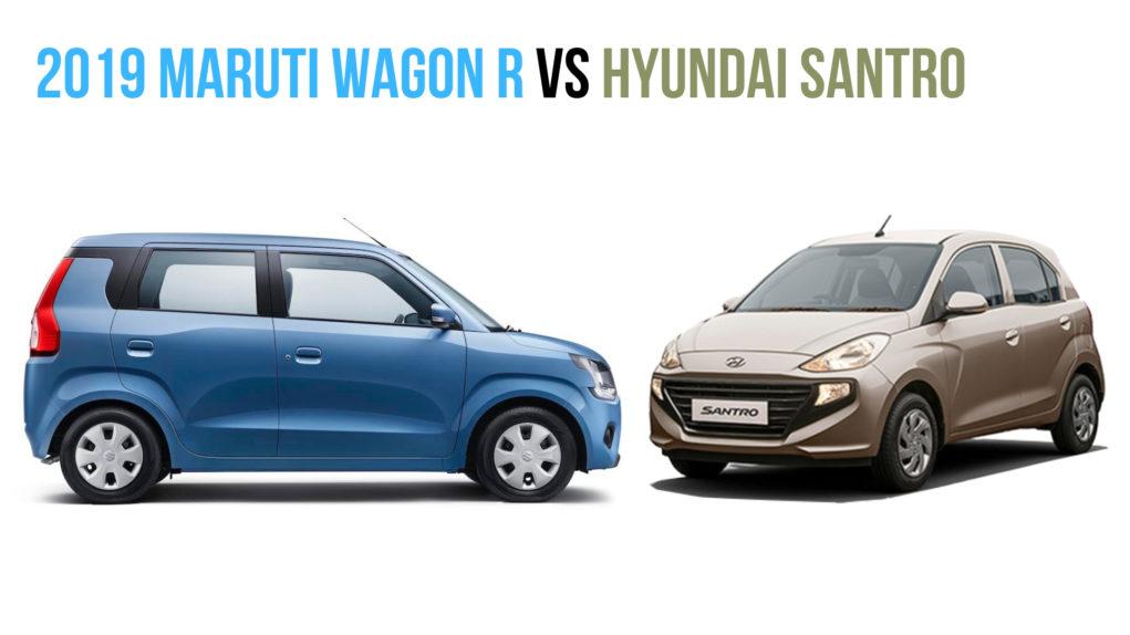 2019 Maruti Wagon R vs Hyundai Santro