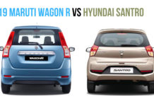 2019 Maruti Wagon R vs hyundai santro rear