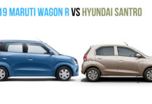 2019 Maruti Wagon R vs hyundai santro side
