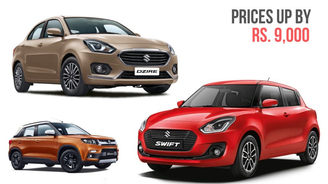 2019 Maruti Suzuki Swift & Dzire Prices Announced; Hiked By Nearly Rs. 9,000 - GaadiWaadi.com - swift, suzuki, prices, maruti, hiked, dzire, announced
