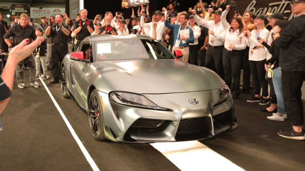 First-Production-2020-Toyota-Supra-Sold-At-Auction-1