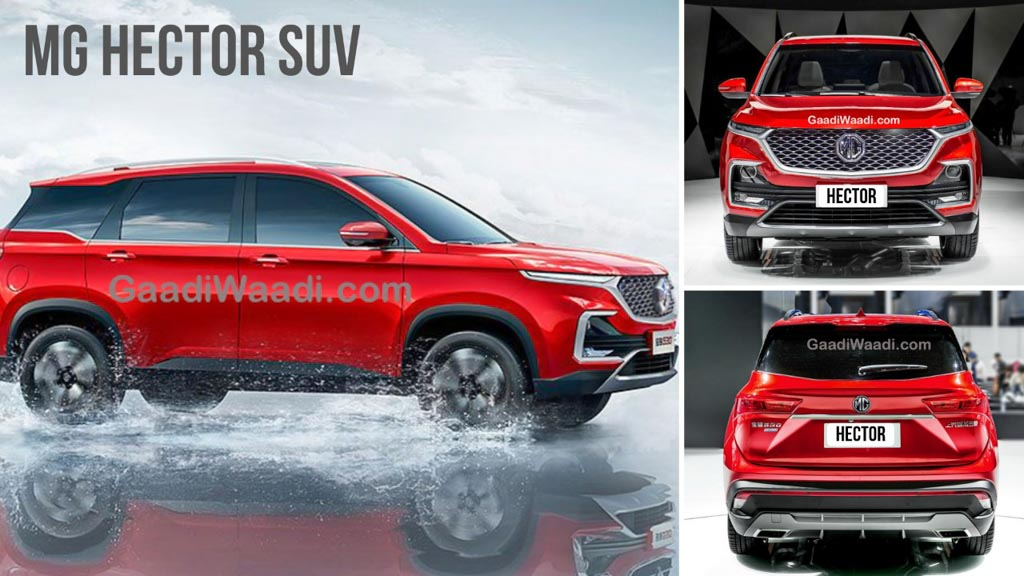 MG Hector Is The Name Of Brand's First Premium SUV In India; Teased