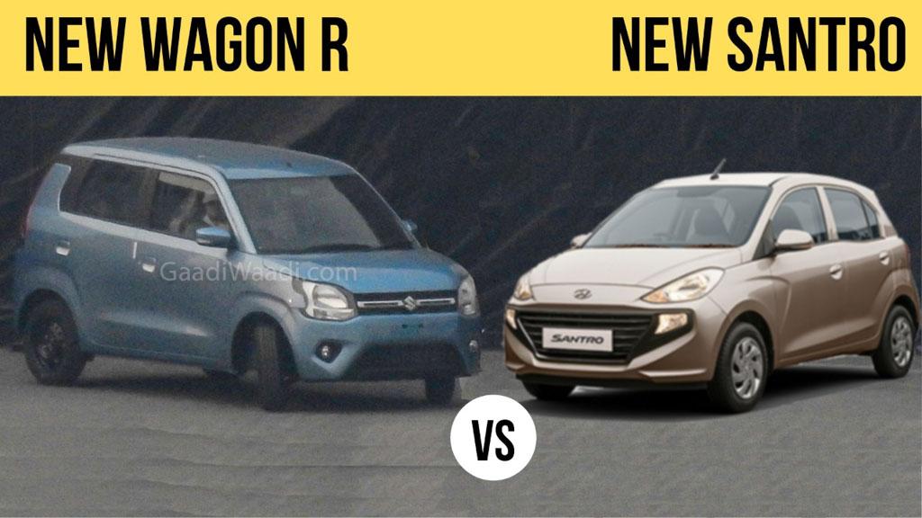 Maruti Suzuki Wagon R 1.2 Vs Hyundai Santro 1.1
