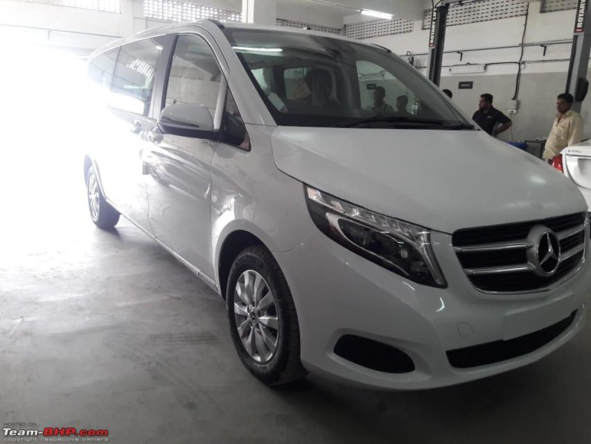 Mercedes-Benz V-Class Luxury MPV Spied In India 4