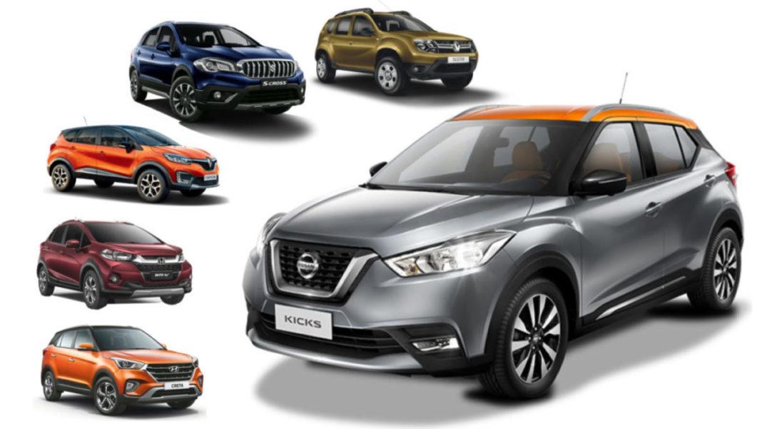 Nissan Kicks SUV Vs creta duster s-cross Captur Dimensions