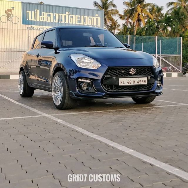 This Modified Maruti Suzuki Swift Looks Like Swift Sport front