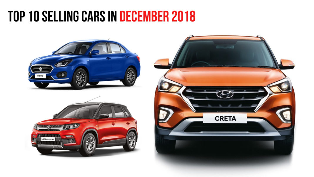 Top 10 Selling Cars In December 2018