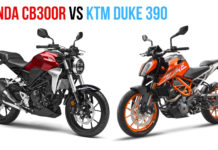 honda cb300r vs duke 390