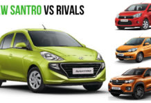 hyundai santro vs rivals sales
